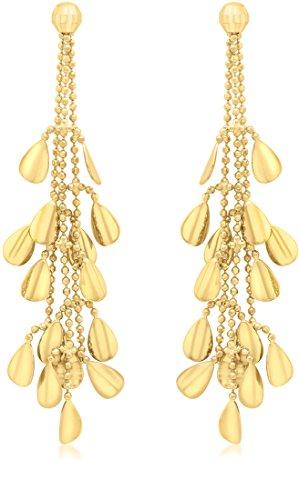 Boucles d'Oreilles Pendantes Femme - E-10710 - Or jaune (9 cts) 3.3 Gr