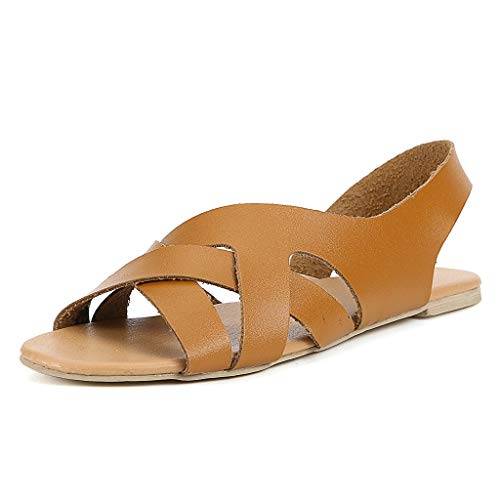 - Sharemen Rome Platform Slippers Retro Women Summer Hemp Rope Flat Student Beach Open Toe Sandals(Yellow,US: 5.5)