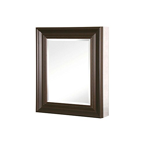 - Pegasus SP4600 Deco 30-Inch High by 24-Inch Wide Framed Medicine Cabinet, Oil Rubbed Bronze