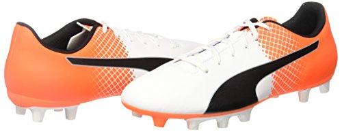 Puma Evospeed 5,5 Fg Chaussure de Football Blanc/Noir/Orange Vif/Hot Pink 8,5