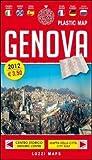 Laminated Map of Genoa in English / Genova Plastic Map by Lozzi Editori (English, Spanish, French, Italian, German and Russian Edition)