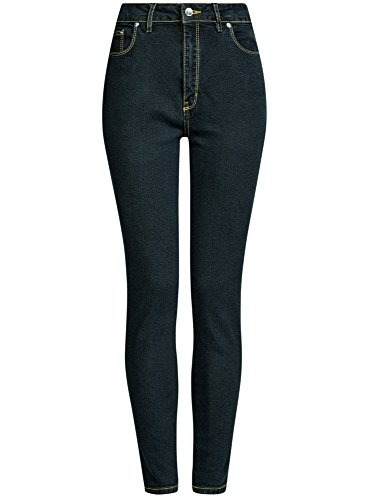 Oodji 7900w A Jeans Vita Fit Collection Blu Alta Slim Donna xFFw6qS