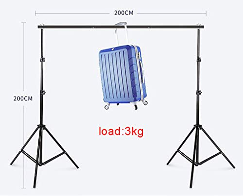 Background Stand Photo Video Studio Background Backdrop Stand Kit, 2x2m Photography Support System with Backdrops Cotton for Portrait,Product Photography and Video Shooting (Color : Gray) by Background Stand (Image #1)