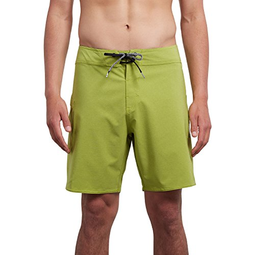 (Volcom Lido Solid Mod 18in Boardshorts 32 inch TYME Green)