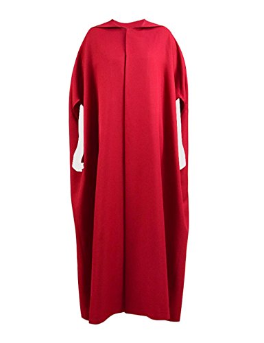 Expeke Halloween Party Women Handmaid Red Cape Dress Costume (L, Cape) -