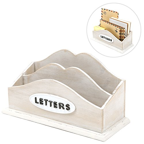MyGift Whitewashed Sorter LETTERS Desktop