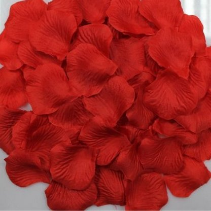 Shenglong 5000 Silk Rose Artificial Petals Supplies Wedding Decorations - Red