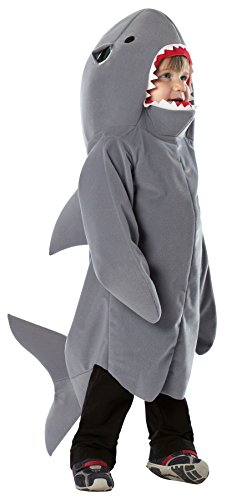 Boy's Shark Outfit Funny Theme Fancy Dress Toddler Child Halloween Costume, Toddler (3-4T) Gray ()