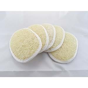 "Wholesale Lot of 100 Pcs. Natural Loofah Luffa Loofa Body Scrub Pads Bath Shower Sponge 4"" X 5.5"""