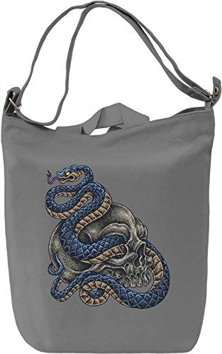 Snake akull Borsa Giornaliera Canvas Canvas Day Bag| 100% Premium Cotton Canvas| DTG Printing|