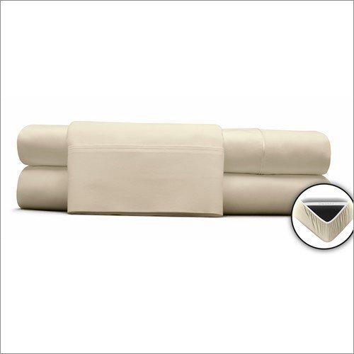 DreamFit 3-Degree 300 Thread Count Select World Class Cotton Sheet Set, Twin, Soft Linen by DreamFit