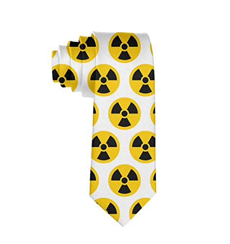 Stylish Elegant Necktie Slim Tie For Men Teen Daily Use (Nuclear Radiation Danger) -
