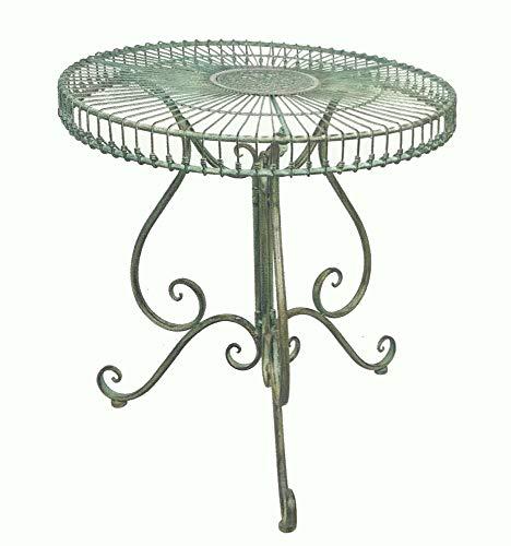 SERENDIPPITY Round Garden Patio Table Antique Green - Iron