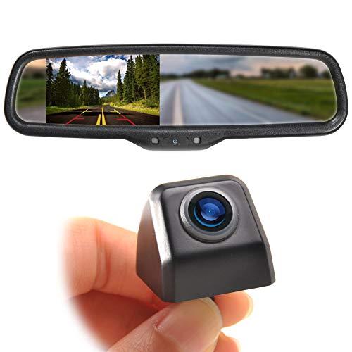 Eway Mini Tailgate Mounting Backup Camera & 4.3'' Rear View Mirror Monitor Kit fits Ford F-150 2004-14 F250/350 08-15 Waterproof Night Vision 170°Angle for Car RV Pickup Truck Trailer Van Universal