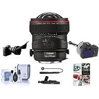 Canon TS-E 17mm f/4L Tilt-Shift Manual Focusing Lens for EOS - USA - Bundle with FocusShifter DSLR Follow Focus & Rack Focus, Flex Lens Shade, Cleaning Kit, LensPen Lens Cleaner, Software Package