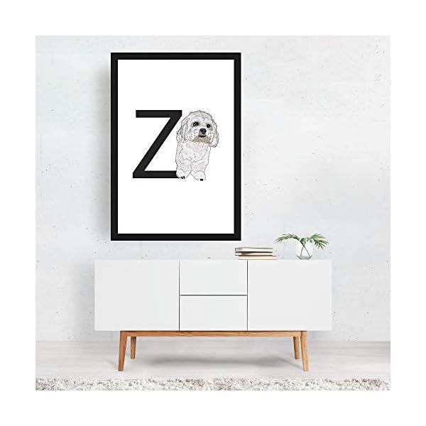 "Noir Gallery Dog Zuchon Illustration 11"" x 14"" Unframed Art Print/Poster 4"