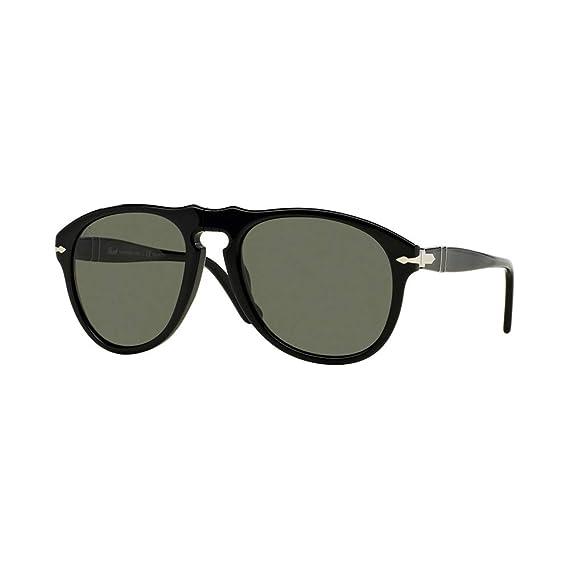 e200cf97c4 Persol Men s Polarized PO0649-95 58-54 Black Aviator Sunglasses ...