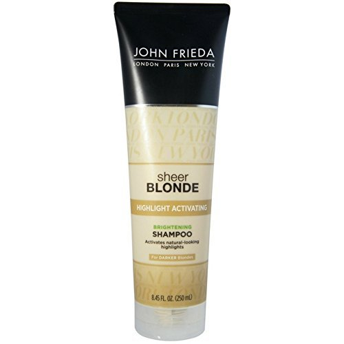 John Frieda Sheer Blonde Highlight Activating Brightening Shampoo Darker Blondes, 8.45 oz ()