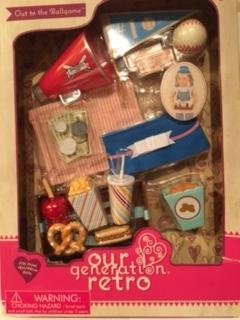 NEW Our Generation Retro Out to the Ballgame for most 18in dolls Maison Joseph Battat Ltd