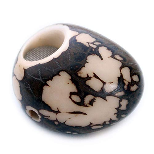 Tagua Nut Pipe Handmade, All Natural Half Polished Vegetable Ivory ()