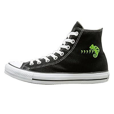 Hilo Canvas Shoes Comma Chameleon Hi-Top Unisex Canvas Sneaker- Season Lace Ups Shoes Casual Trainers Men And Women