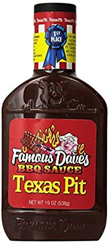 Famous Dave's BBQ Sauce Texas Pit, 19-Ounce (Pack of 2) by Famous Dave's (Famous Daves Texas Pit)