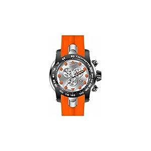 Invicta Pro Diver Chronograph Silver Dial Orange Silicone Mens Watch 17808