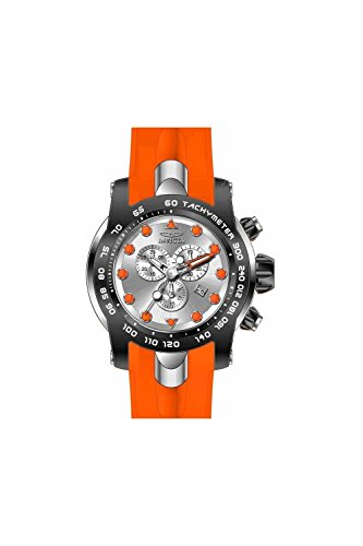 Invicta Pro Diver Chronograph Silver Dial Orange Silicone Mens Watch 17808