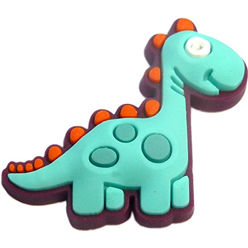Blue Dinosaur Rubber Charm for Wristbands and -