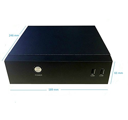 HIGH Power mITX-0DB Fanless Mini ITX Desktop/Tower/VESA-Mount PC System Case Kit, Black by HIGH POWER (Image #2)