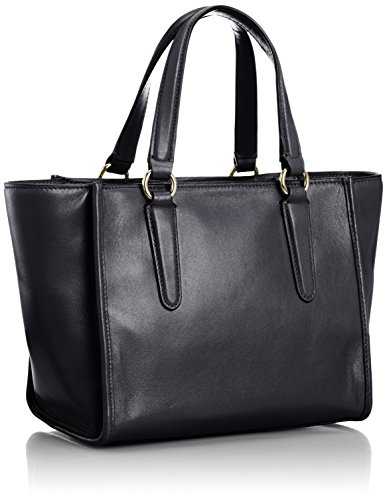 Handle Satchel Leather Coach Crosby Mini Black Carryall Top Women's wxHCYq1na