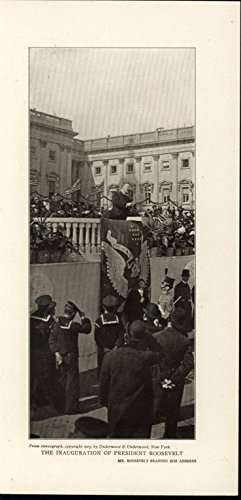 Inauguration President Roosevelt Sailor Speech 1905 antique historic photo-print