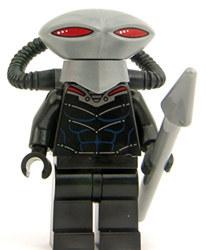 LEGO-DC-Comics-Super-Heroes-Minifigure-Black-Manta-with-Pike-Spear-76027