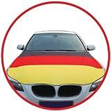 Auto Autohauben Abdeckung in Deutschlandsfarben Fahne Flagge Deutschland Fußball Fußball 2014