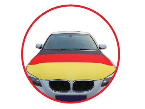 Auto Autohauben Abdeckung in Deutschlandsfarben Fahne Flagge Deutschland Fußball Fußball 2014 HAAC