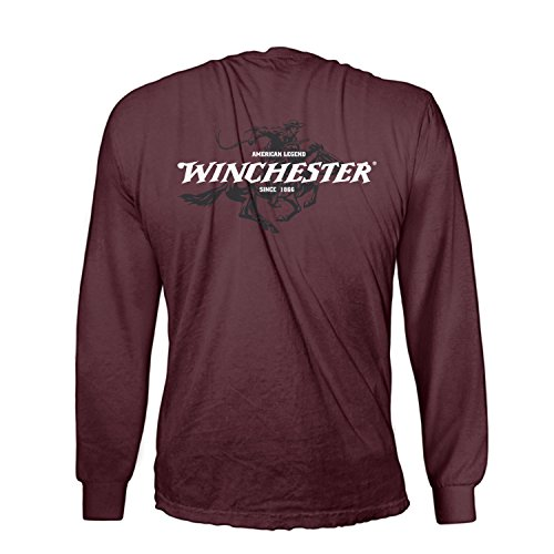 official-winchester-mens-cotton-legend-rider-graphic-printed-long-sleeve-t-shirt-xl-maroon