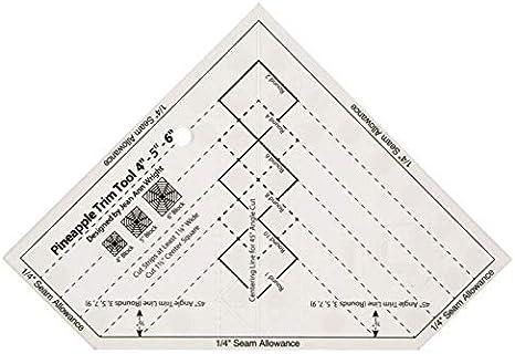 Ananaslineal MST-03 YICBOR Anti-Rutsch-Lineal klein