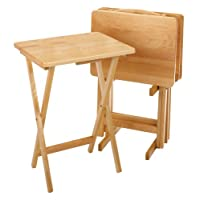 Marvelous Winsome Wood 42520 Alex Snack Table Natural Set 5 Pc