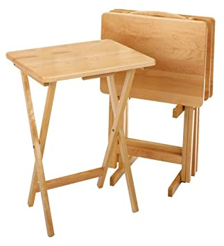 Winsome Wood 5 Piece TV Table Set, Natural
