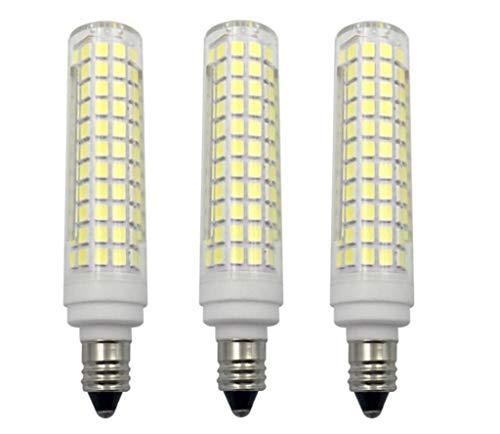 - JKLcom E11 LED Bulbs Dimmable 15W(Equivalent to 150w Halogen Bulbs Replacement)110V Cool White 6000K LED Corn Light Bulbs JD T4 E11 Mini Candelabra Base,Dimmable,136 LED 2835 SMD,3 Pack