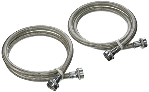 General Electric PM14X10005 Stainless Steel Washing Machine Hoses, 4-Foot (2-pack)