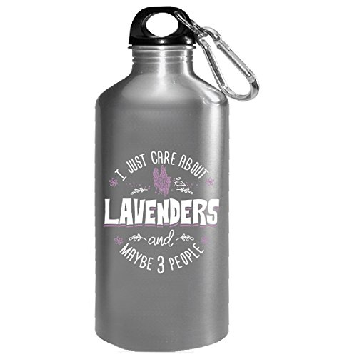 I Just Care About Lavenders Flowers - Water Bottle