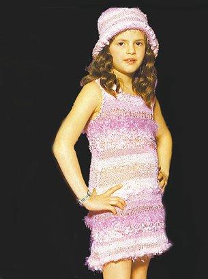 Stricken Mädchenkleid Mariposa Strickpackung Zum Selber