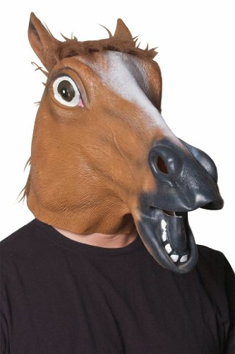 Morbid Enterprises Horse Head Mask, Brown, One Size]()