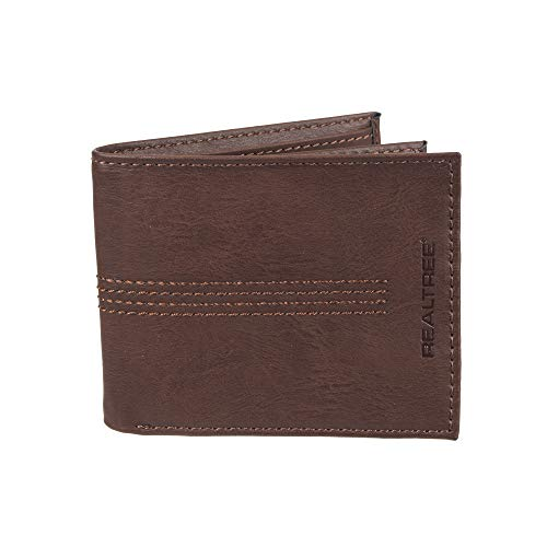 - Real Tree Men's RFID Blocking Extra Capacity Slimfold Wallet, brown, One Size