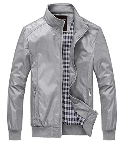 Coats Collar Windbreaker Stand Military Jacket Casual TTYLLMAO Men's 2 Lightweight TtPq4p8xHw