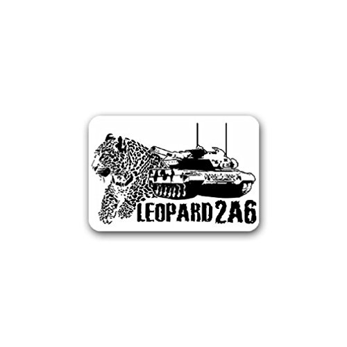 Gti Cat - Leopard 2A6 tank battle combat cat German army military Germany badge emblem for Audi A3 BMW VW Golf GTI Mercedes (10x7cm) - Sticker Wall Decoration