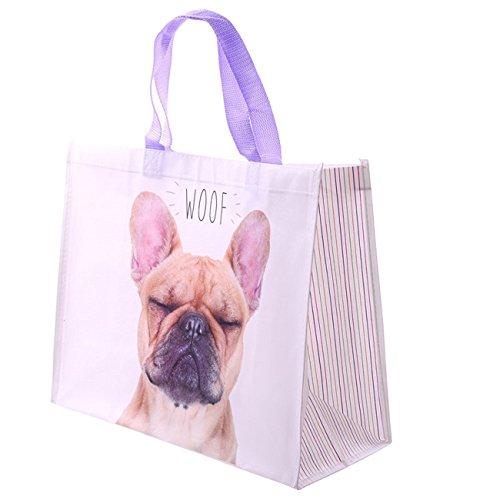Gossip Girl , Damen Tote-Tasche mehrfarbig PINK/BROWN DOG DESIGN