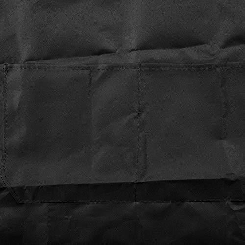 Noir ZengBuks Tablier sans manches ajustable avec poche frontale cuisinier et cuisinier Boucher tabliers simples pour cuisinier