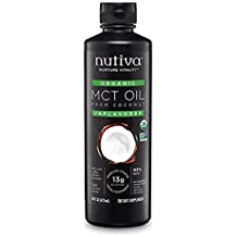 Nutiva Organic MCT Oil with Caprylic and Capric Acids from non-GMO, USDA Certified Organic Fresh Coconuts, 32-ounce